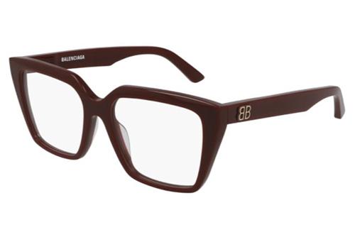 Balenciaga BB0130O 006 burgundy burgundy tra 53 Women's Eyeglasses