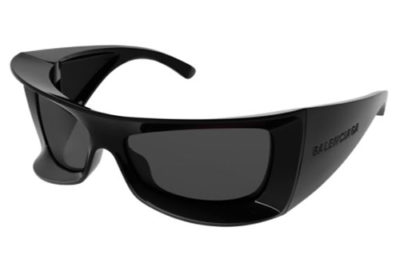 Balenciaga BB0156S 001 black black grey 64 Women's Sunglasses