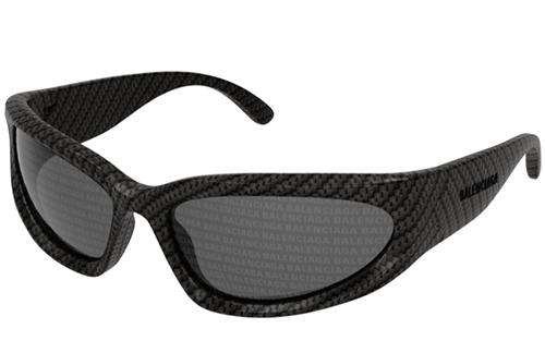 Balenciaga BB0157S 003 grey silver 65 Men's Sunglasses