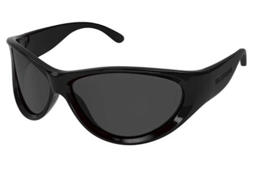 Balenciaga BB0158S 001 black black grey 71 Unisex Sunglasses