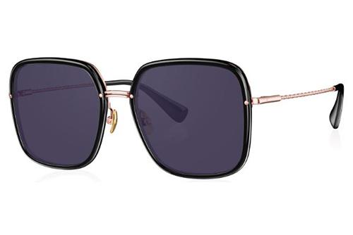 Bolon BL6096 C10 rose gold|black 56 Women's Sunglasses