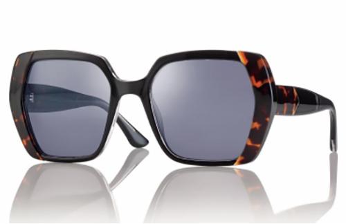 CentroStyle S032753049001 SHINY BLACK/DEMI Sunglasses