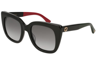 Gucci GG0163S 003 black black grey 51 Women's Sunglasses