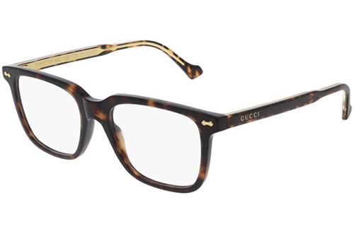 Gucci GG0737O 006 havana havana transpa 53 Men's Eyeglasses