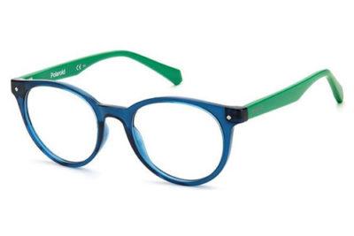 Polaroid Pld D814 RNB/18 BLUE GREEN 45 Kid's Eyeglasses