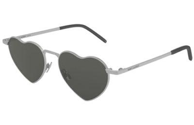 Saint Laurent SL 301 LOULOU 001 silver grey 52 Unisex Sunglasses