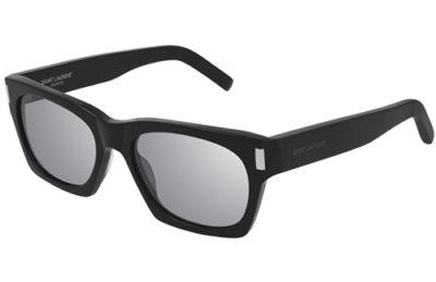 Saint Laurent SL 402 002 black silver 54 Unisex Sunglasses
