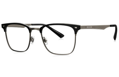 Bolon BJ6053B11 black dark gun color 52 Eyeglasses