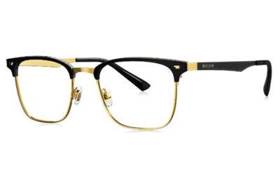 Bolon BJ6053B12 shiny black gold 52 Unisex Eyeglasses