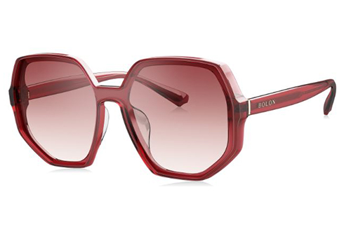 Bolon BL3025A30 transparent red 130 Women's Sunglasses