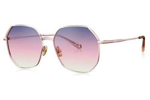 Bolon BL7100A31 rose gold 54 Women's Sunglasses