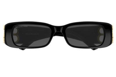 Balenciaga BB0096S 001 black gold grey 51 Women's Sunglasses