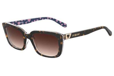 Moschino Mol042/s 086/HA HAVANA 53 Women's Sunglasses
