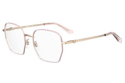 Moschino Mol580 EYR/19 GOLD PINK 52 Women's Eyeglasses